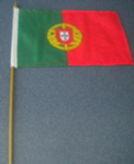 Portugal Country Hand Flag - Medium (stitched).